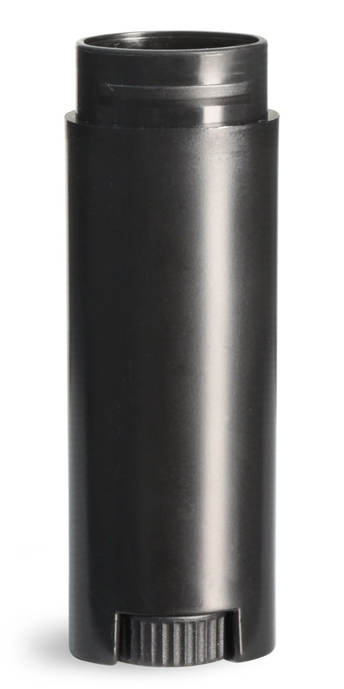 .15 oz Black Lip Balm Tubes, Oval Lip Balm Tubes (Bulk), Caps Not Included