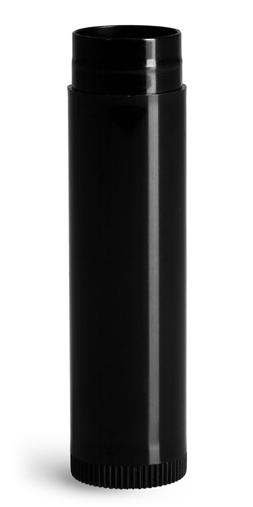 .15 oz Lip Balm Tubes, Black Lip Balm Tubes (Bulk), Caps Not Included