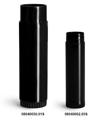 Lip Balm Tubes, Black Polypro Lip Balm Tubes (Bulk), Caps Not Included