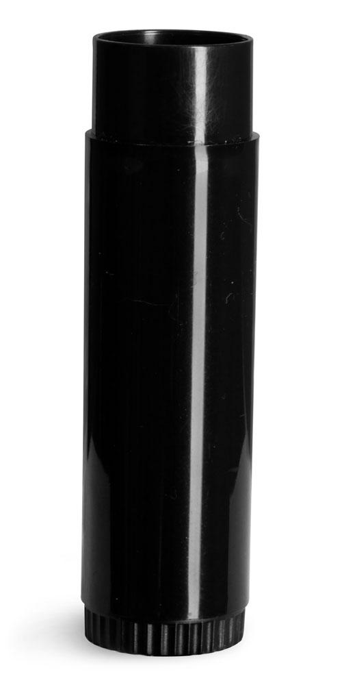 Lip Balm Tubes, Black Lip Balm Tubes (Bulk), Caps Not Included
