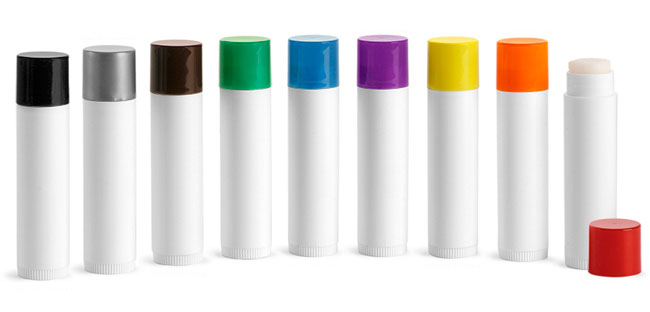 Lip Balm Tubes With Colored Caps