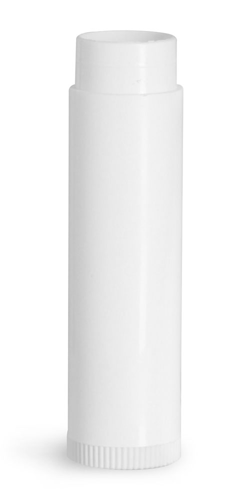 Lip Balm Tubes, White Polypropylene Plastic Lip Balm Tubes (Bulk) Caps NOT Included