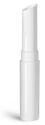 Lip Balm Tubes, 0.07 oz White Polypropylene Slant Tip Tubes (Bulk), Caps NOT Included