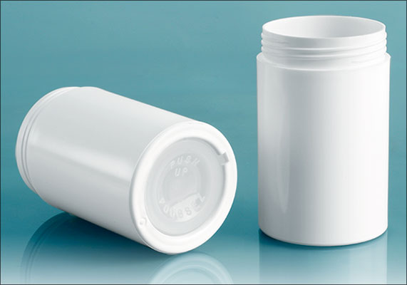 White Styrene Push Up Deodorant Containers (Bulk), Caps Not Included