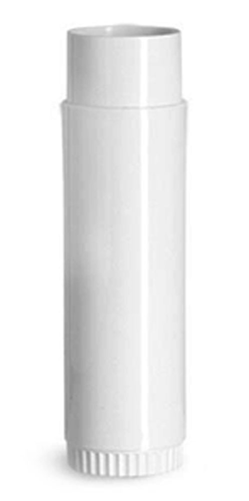 0.50 oz White Polypropylene Lip Balm Tubes (Bulk), Caps NOT Included