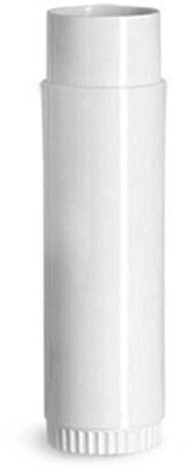 White Polypropylene Lip Balm Tubes (Bulk), Caps NOT Included