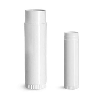 White Lip Balm Tubes (Bulk), Caps Not Included
