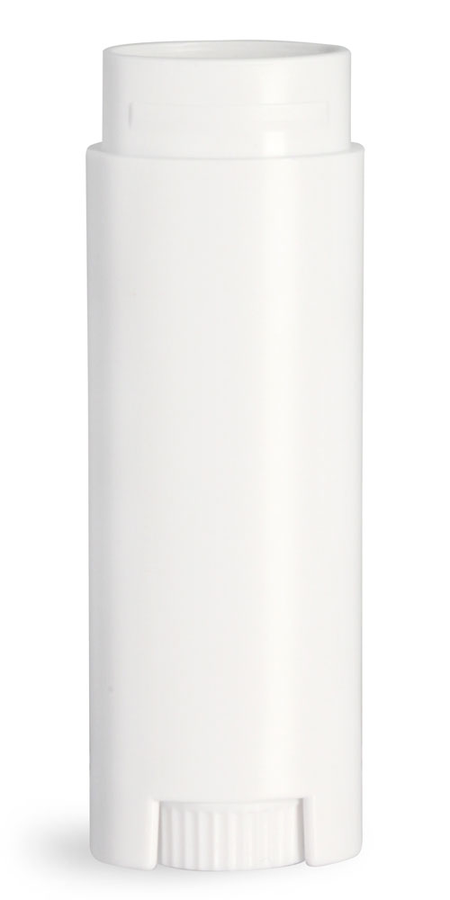 .15 oz White Lip Balm Tubes, Oval Lip Balm Tubes (Bulk), Caps Not Included