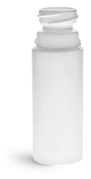 Plastic Bottles, White HDPE Child Resistant Roll-On Cylinders (Bulk), Caps NOT Included