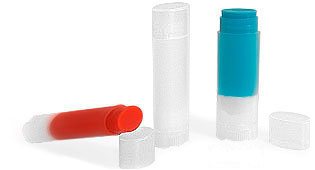 Lip Balm Tubes, Natural Oval Lip Balm Tubes w/ Caps
