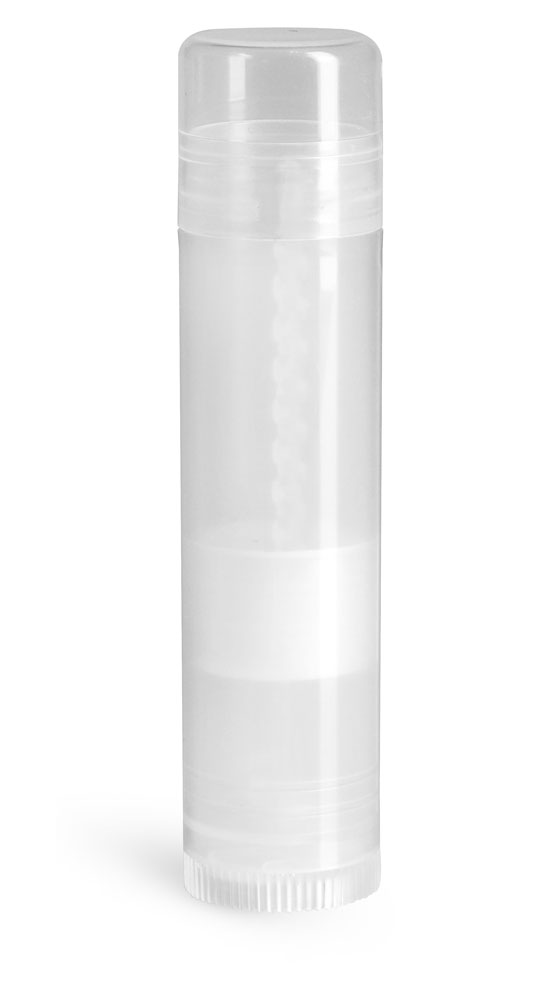 Lip Balm Tubes, Natural Polypropylene Lip Balm Tubes w/ Caps