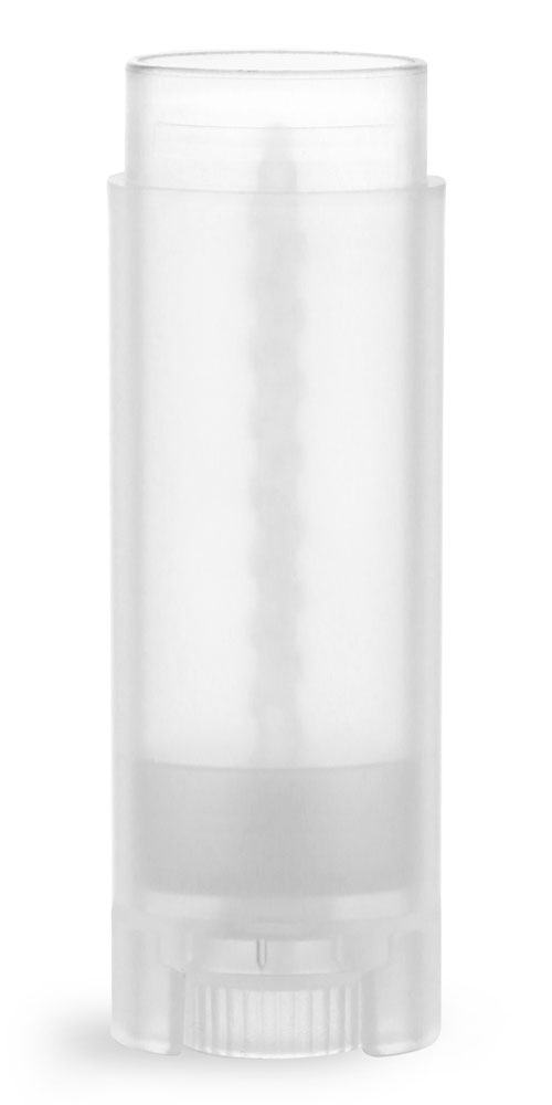 .15 oz Natural Lip Balm Tubes, Oval Lip Balm Tubes (Bulk), Caps Not Included
