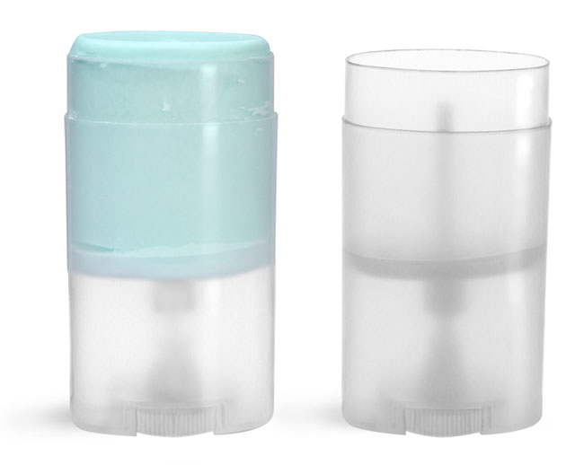Plastic Tubes, Natural Polypro Oval Deodorant Tubes (Bulk), Caps NOT Included