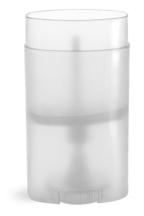 2.12 oz Plastic Tubes, Natural Polypro Oval Deodorant Tubes (Bulk), Caps NOT Included