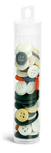 35 ml Clear PET Round Tubes w/ Natural Hang Tab Plugs