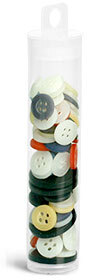 Clear PET Round Tubes w/ Natural Hang Tab Plugs