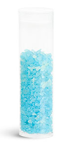 30 ml Oval Bath Salt Style PET Tubes w/ Plugs
