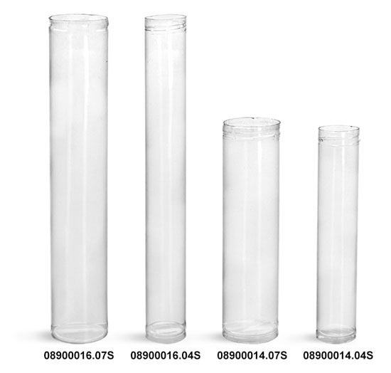 Plastic Tubes, Clear Round Plastic Tubes (Bulk) Caps NOT Included