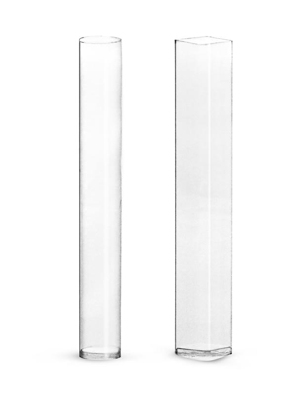140 ml  Square Clear Propionate Plastic Tubes (Bulk)