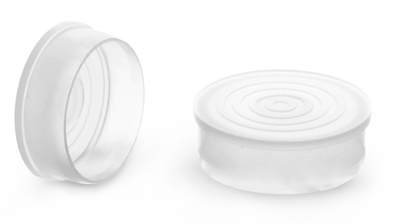 1.030 inches  Natural LDPE Round Plug Closures For Plastic Tubes