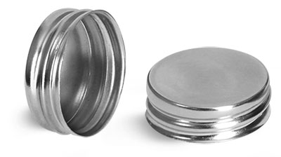 Metal Caps, Silver Metalized Unlined Caps
