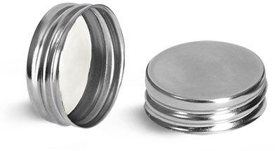 Metal Caps, Silver Metalized Caps w/ Pulp/Vinyl Liner