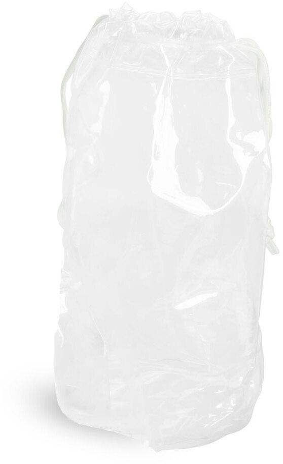 Clear Vinyl Bags w/ White Drawstrings