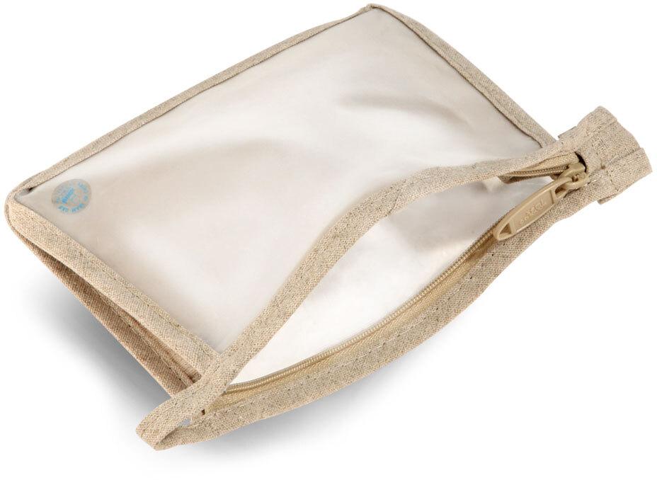 PEVA And Hemp Zipper Bags w/ Hang Loops