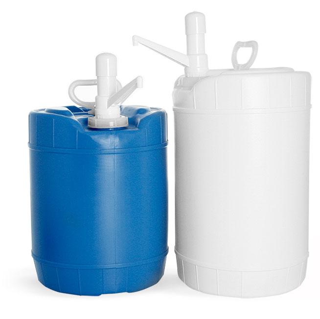 Storage Drums, HDPE Plastic Storage Drums w/ Dispensing Pumps
