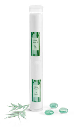 Round PVC Plastic Tubes w/ Plugs