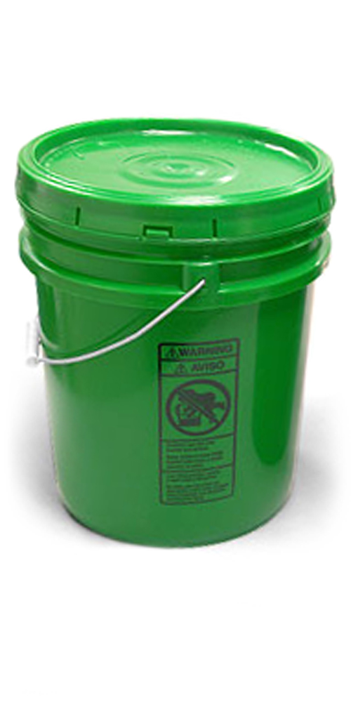 5 gal w/ Solid Cover Green Pails w/ Plastic Lids