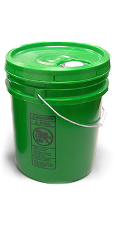 5 gal w/ Reike Cover Green Pails w/ Plastic Lids