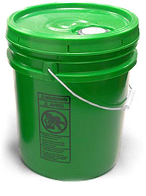 Green Pails w/ Plastic Lids