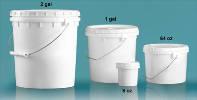 Plastic Pails, Vapor Lock Pails w/ Metal Handles
