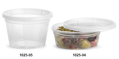 Plastic Tubs, Clear Polypropylene Tubs w/ Clear Lids