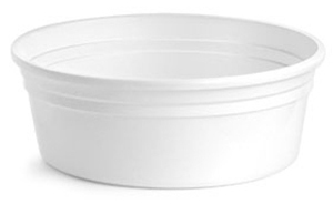 White Polypro Tubs (Bulk), Lids NOT Included