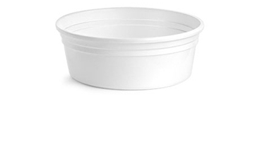 Plastic Tubs, White Polypro Tubs (Bulk), Caps NOT Included