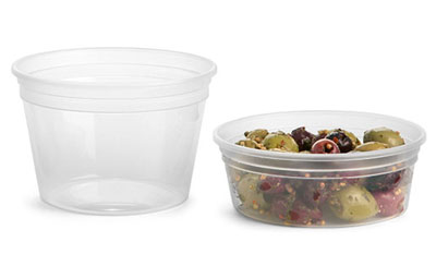 Plastic Tubs, Clear Polypro Tubs (Bulk), Caps NOT Included