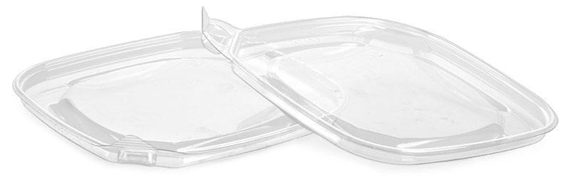 Plastic Lids, Clear PET (PCR) Tamper Evident Tub Lids