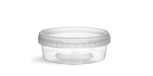 Plastic Tubs, Clear Polypropylene Tamper Resistant Tubs w/ Clear Lids