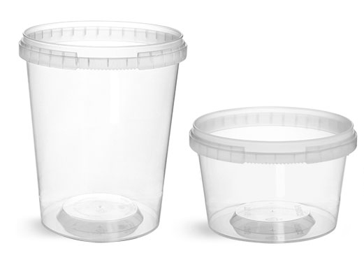 Plastic Tubs, Clear Polypro Tamper Resistant Tubs (Bulk), Caps NOT Included