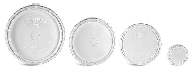 Plastic Lids, White Vapor Lock Covers