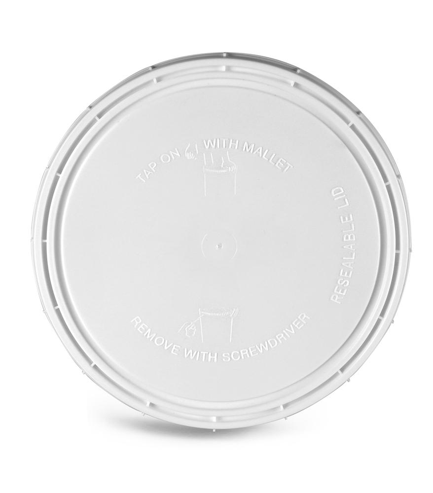 64 oz White Vapor Lock Covers