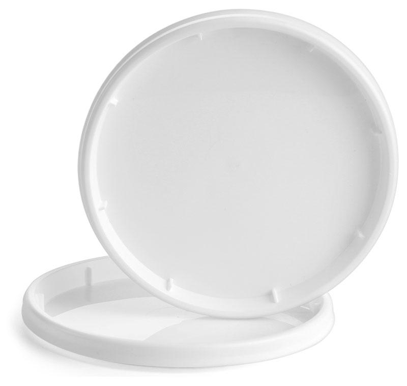 Plastic Lids, White Polypropylene Tub Lids