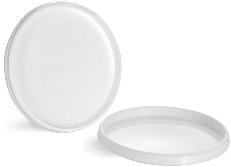 Plastic Lids, White Polypro Lids for Tamper Resistant Tubs