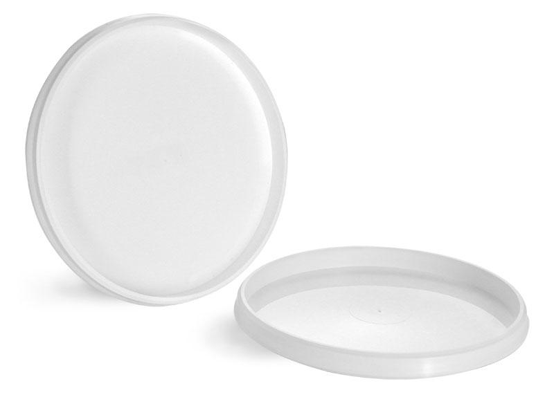 Plastic Lids, White Polypropylene Lids For Tamper Resistant Tubs