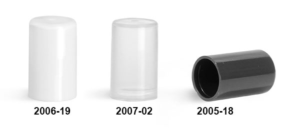 Plastic Caps, Smooth Polypropylene Friction Fit Caps For Slim Line Lip Balm Tubes