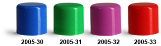Plastic Caps, Smooth Polypropylene Friction Fit Caps For Lip Balm Tubes