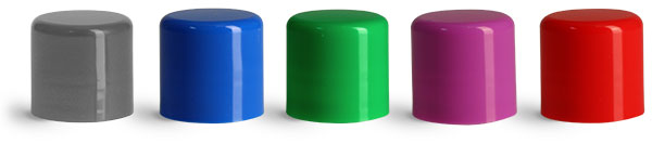 14 mm Blue  Smooth Polypropylene Friction Fit Caps for Lip Balm Tubes