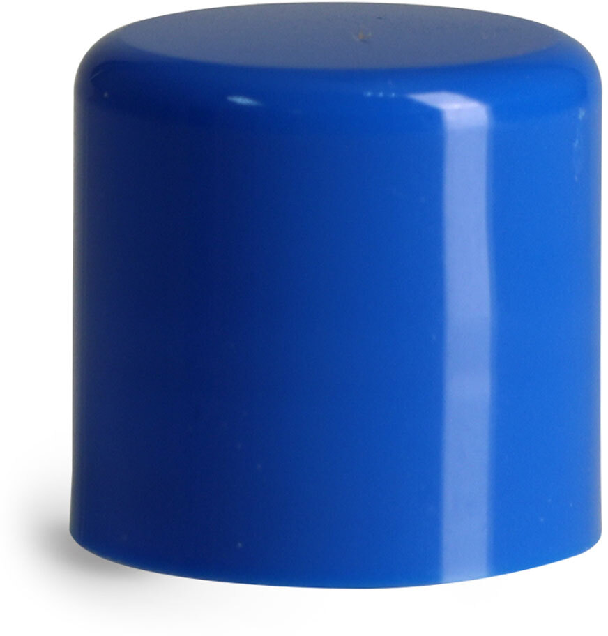 Smooth Polypropylene Friction Fit Caps for Lip Balm Tubes